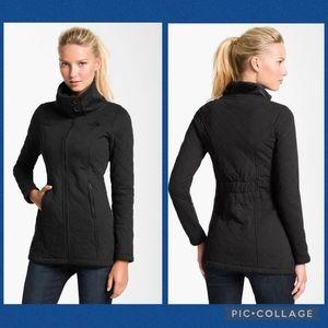 The North Face Caroluna Fleece Hooded Black Jacket XS EUC